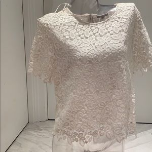 1. State lace white top